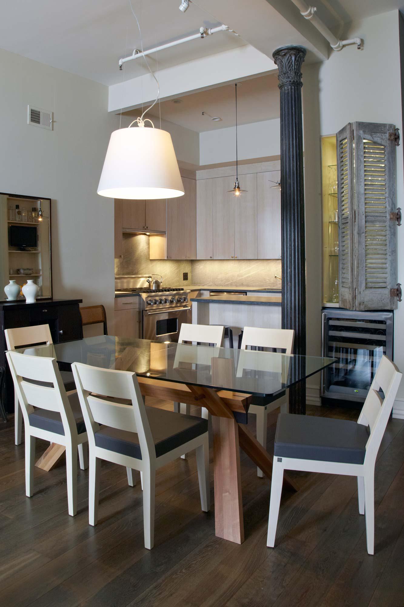 brooke moorhead design tribeca loft dining room