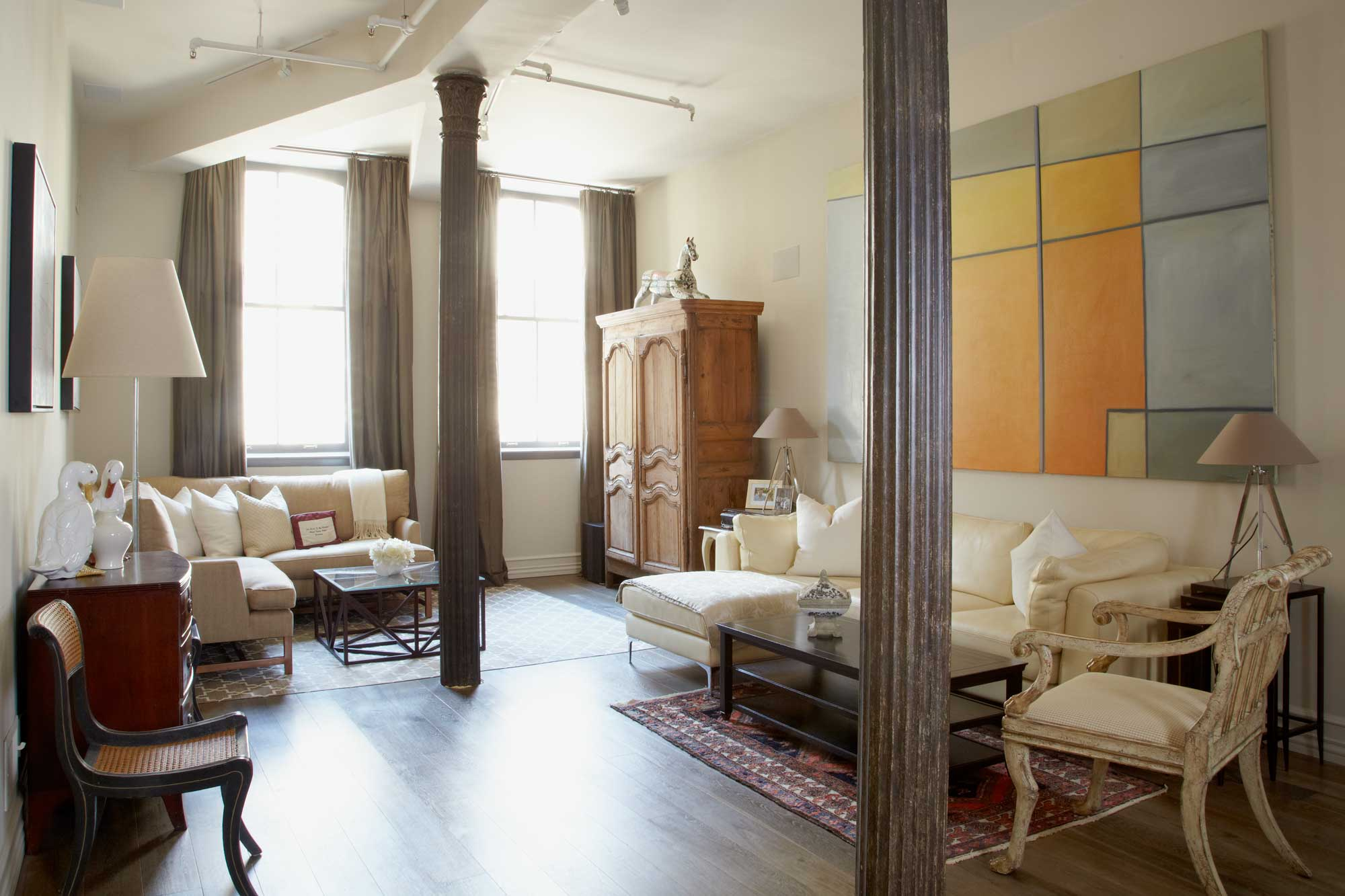 brooke moorhead design tribeca loft living room